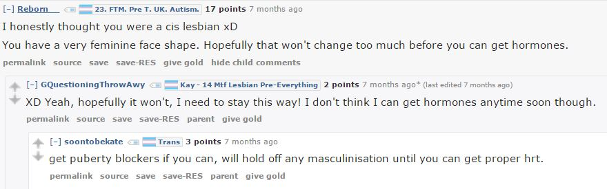 Other commenters talks about how it's possible to get androgen blockers online: