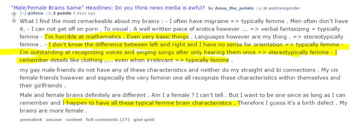 my brain is femme
