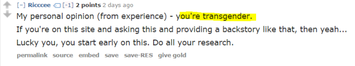 you're transgender