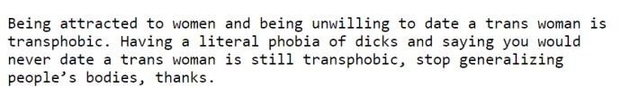 dickophobia